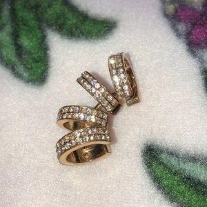 Jewelry - Gold Ear Cuff w/ Faux Diamonds